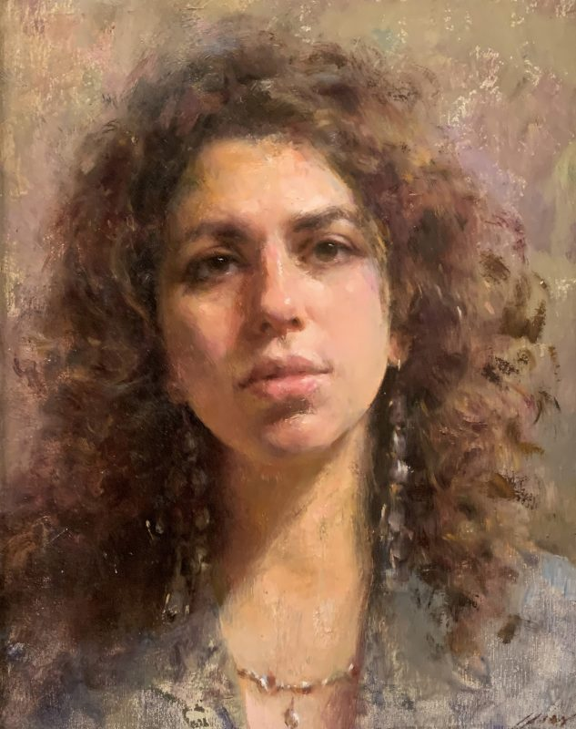 Mary Qian Susan female woman girl figure figurative portrait oil painting