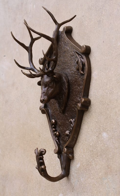 Mary Ross Buchholz Elk Head Wall Hanger wildlife western bronze sculpture side