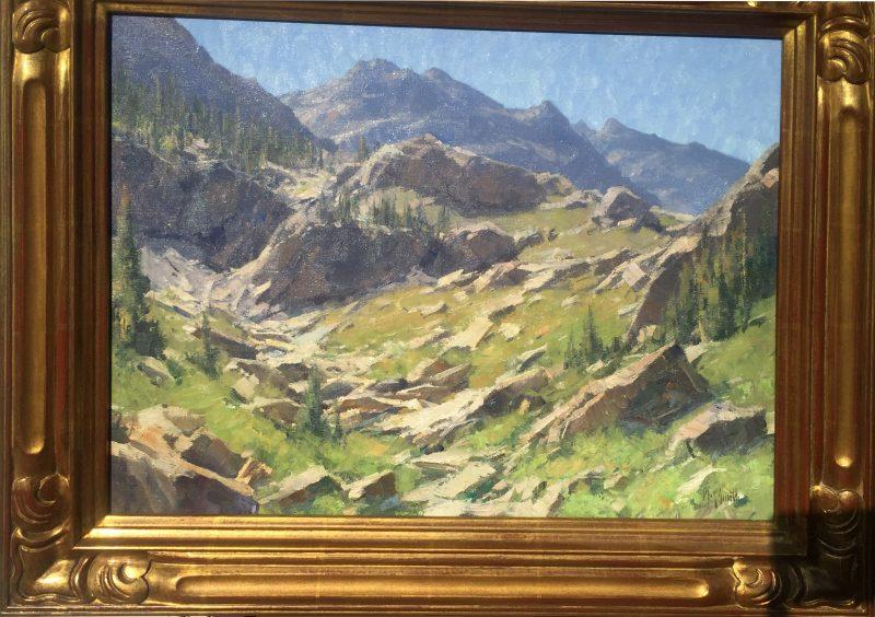 Matt Smith Spanish Peaks Wilderness mountain rocks landscape oil painting framed